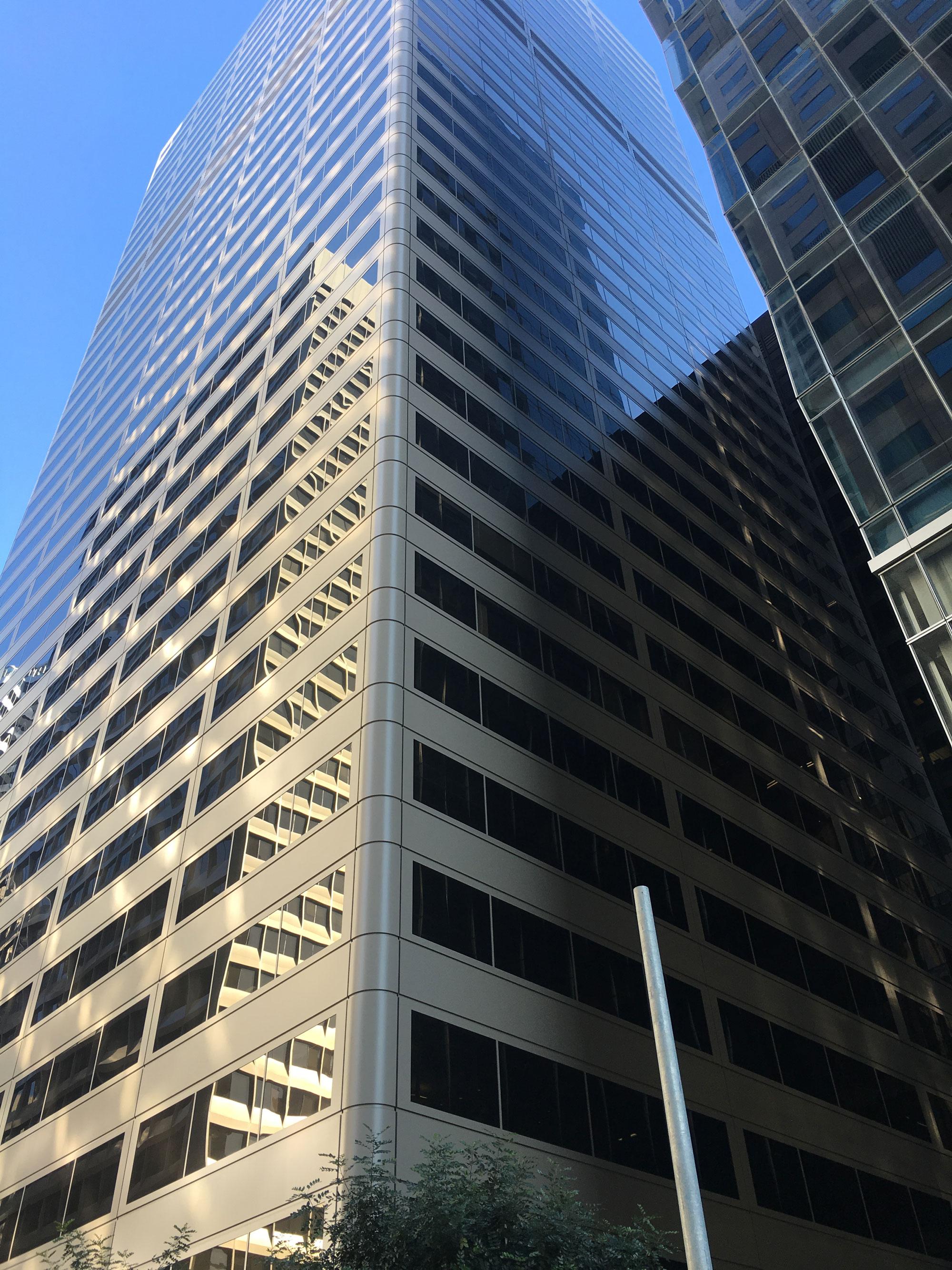 45 Fremont Center, San Francisco, CA, Shorenstein Company, McGinnis Chen Associates, Rainbow Waterproofing Restoration, Tnemec, Lumiflon