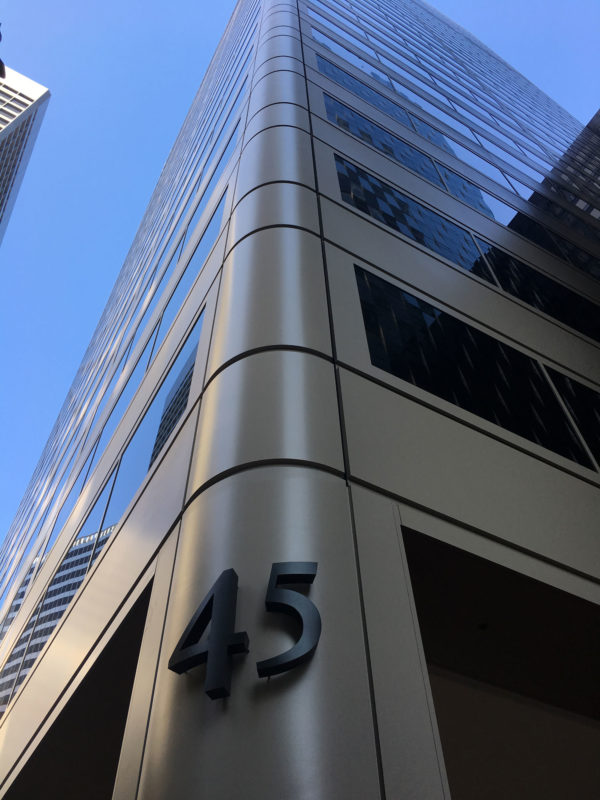 45 Fremont Center, San Francisco, CA, Shorenstein Company, McGinnis Chen Associates, Rainbow Waterproofing Restoration, Tnemec, Lumiflon