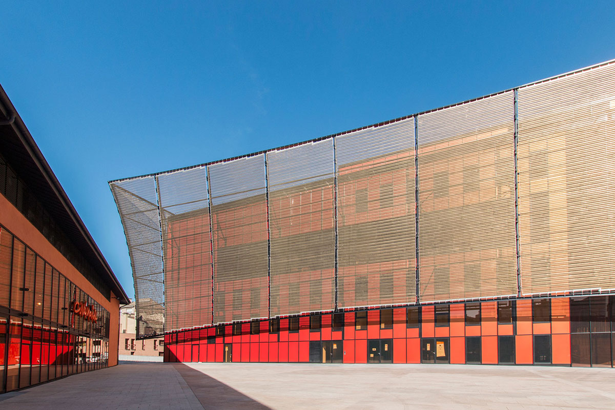 Albi Grand Theater France Dominique Perrault Architecture Alucobond Spectra Cupral Lumiflon FEVE Resin Photography Manuel Panaget