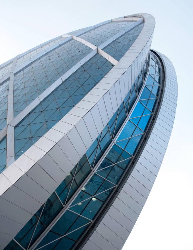 Aldar Headquarters Abu Dhabi UAE MZ Architects ALPOLIC ACM Akzo Nobel Interpon D3000 Lumiflon FEVE Resin