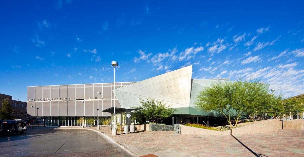 Alucobond Spectra Green, Tempe Transportation Center, Arizona, Otak Architekton