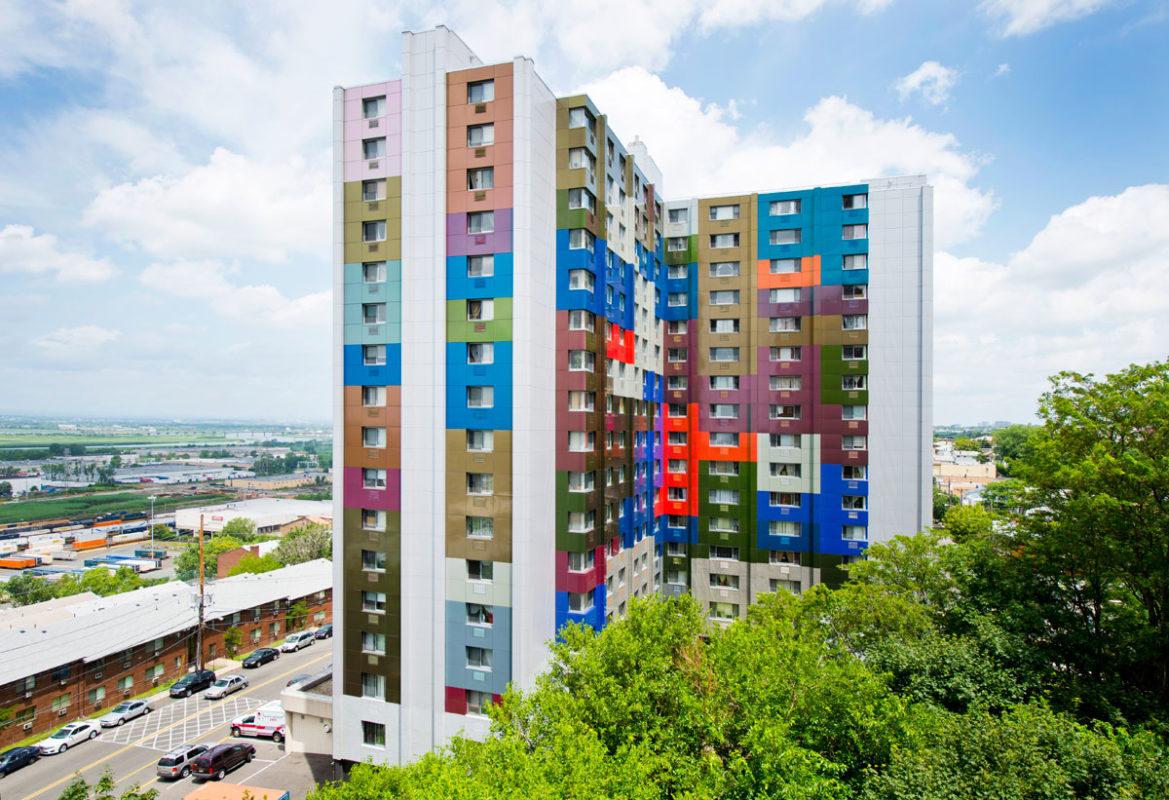 Alucobond Spectra, Paul F Cullum Tower, Lothrop Associates, North Bergen, New Jersey, Photos Daniel Lunghi