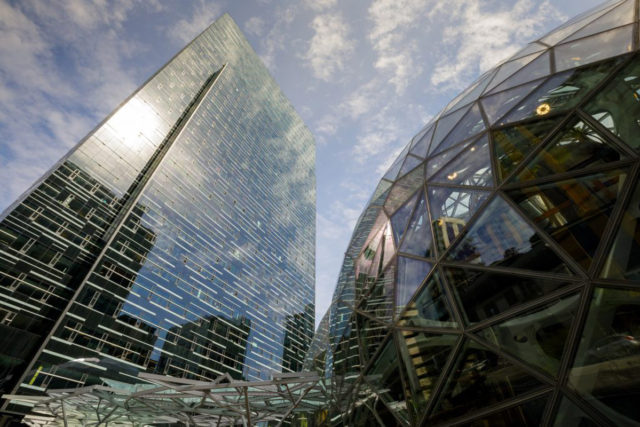 Amazon Spheres Seattle Washington NBBJ Fluoronar Tnemec Lumiflon FEVE Resin