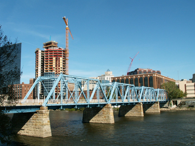 Blue Bridge, Grand Rapids, Tnemec Fluoronar, FEVE Resin, Lumiflon