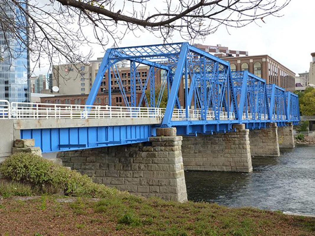 Blue Bridge, Grand Rapids, Tnemec Fluoronar, FEVE Resin, Lumiflon
