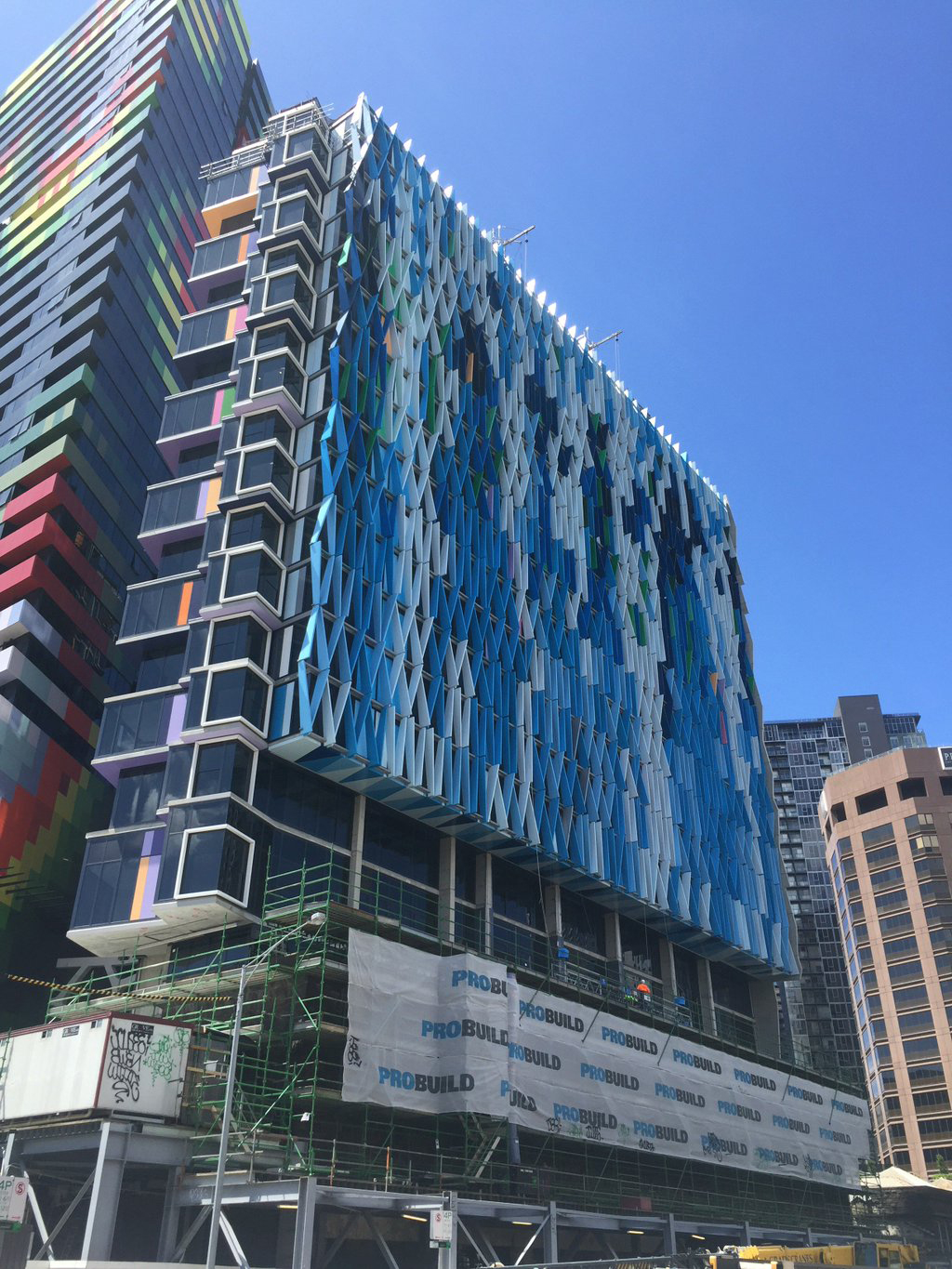 Bouverie Street Apartments, Melbourne, Australia, Studio 505, Probuild, Grocon, Vitreflon, A I Coatings, Lumiflon FEVE Resin, Photography, Probuild Aust