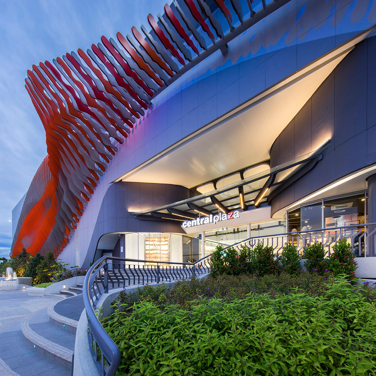 Central Plaza Rayong Thailand Synthesis Design PK Aluminum Company Lumiflon FEVE Resin ALPOLIC ACM