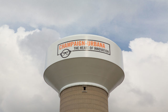 Champaign Urbana Elevated Water Tank, Tnemec Company, Hydroflon, Lumiflon FEVE, Illinois