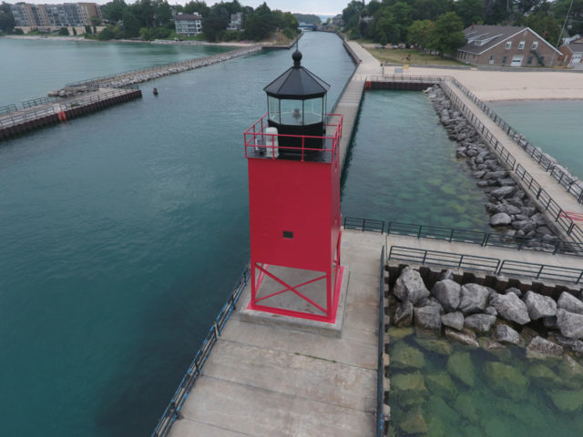 Charlevoix South Pier Lighthouse Michigan Restoration North Group LLC Tnemec Fluoronar FEVE Lumiflon