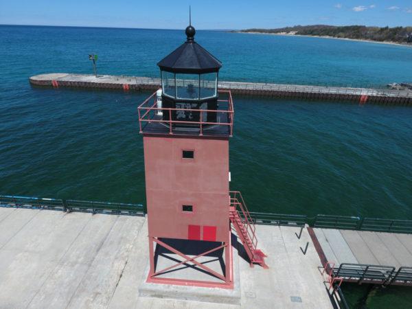 Charlevoix South Pier Lighthouse Michigan Restoration North Group LLC Tnemec Fluoronar FEVE Lumiflon