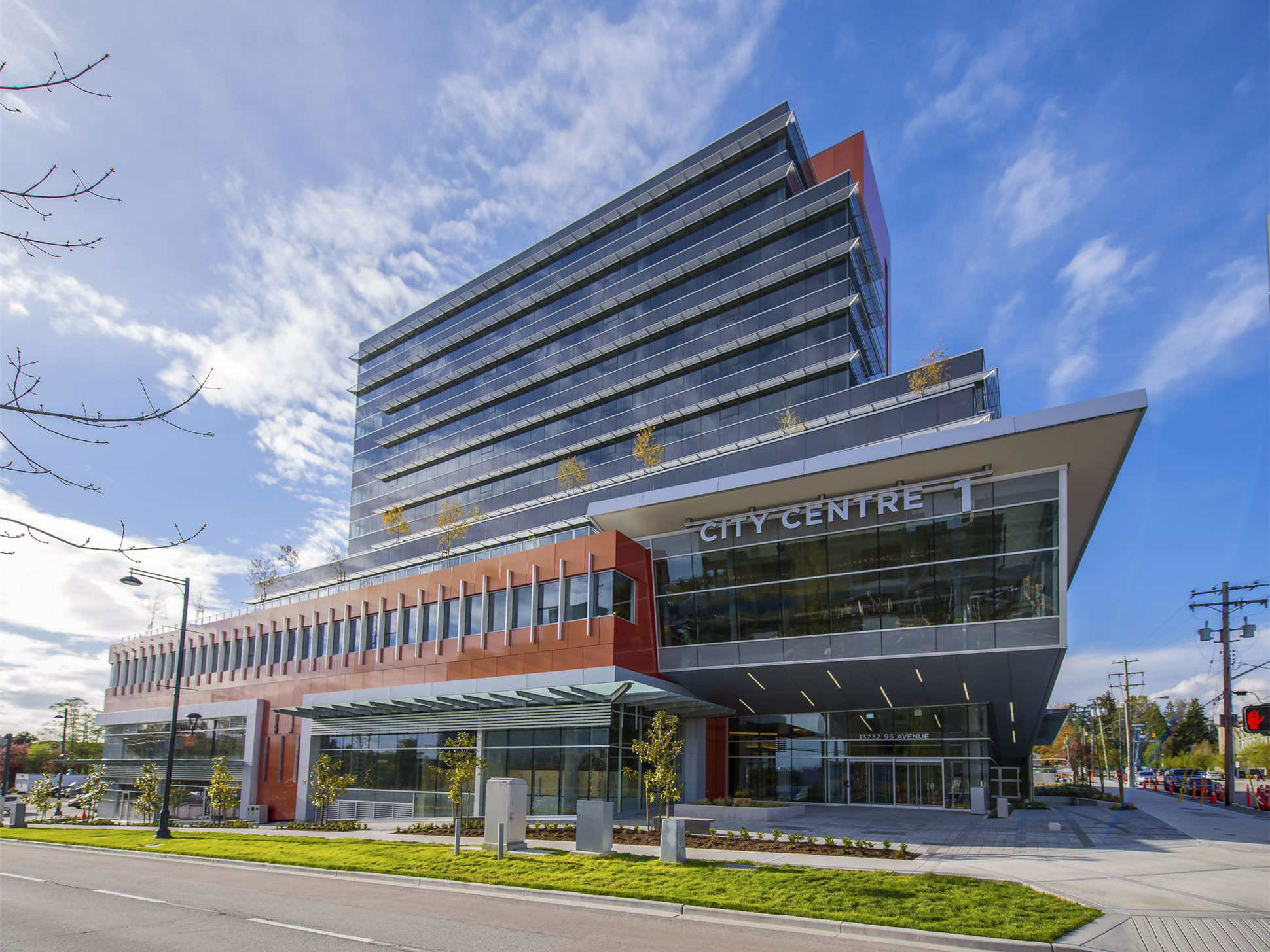 City Centre 1, CC1, Surrey, BC, Wensley Architecture, Keith Panel, Alucobond Spectra Cupral, Photography Howard Waisman