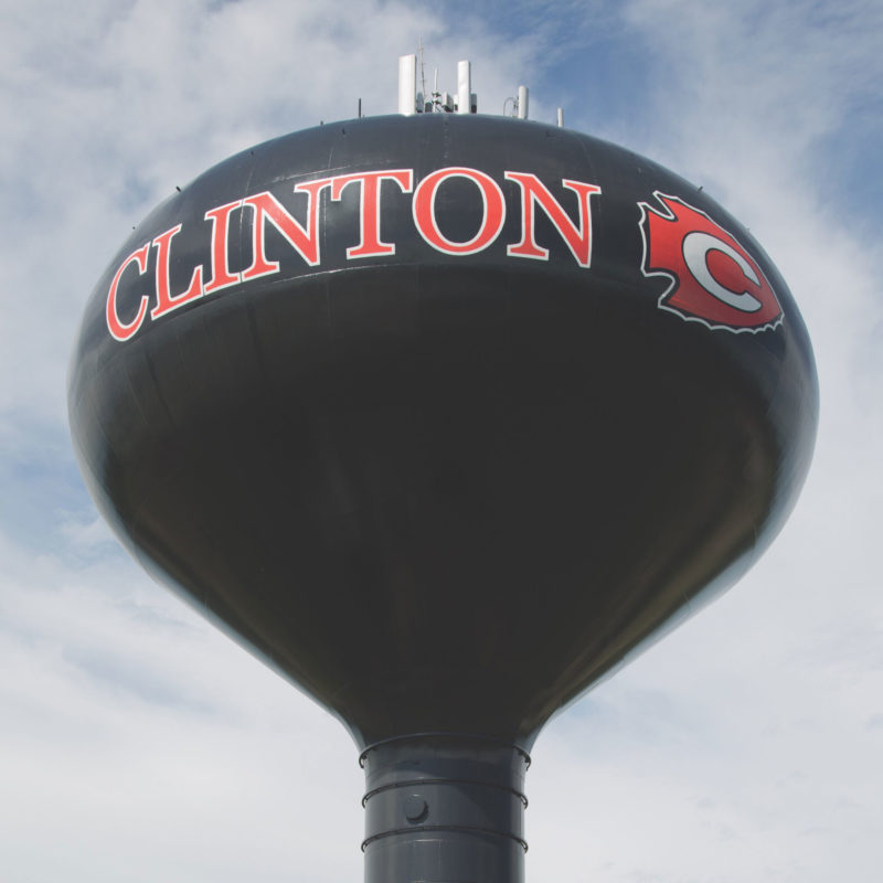 Clinton Mississippi, Water Tower, Tnemec Company, Hydroflon