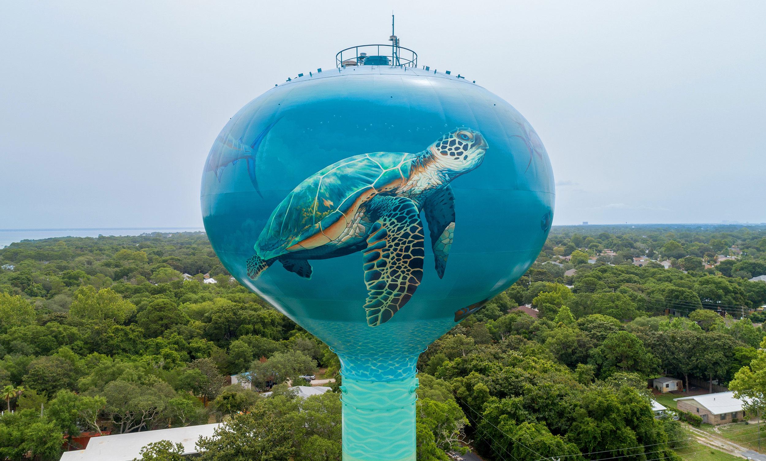 Destin Turtle, Water Tank, Tnemec Company