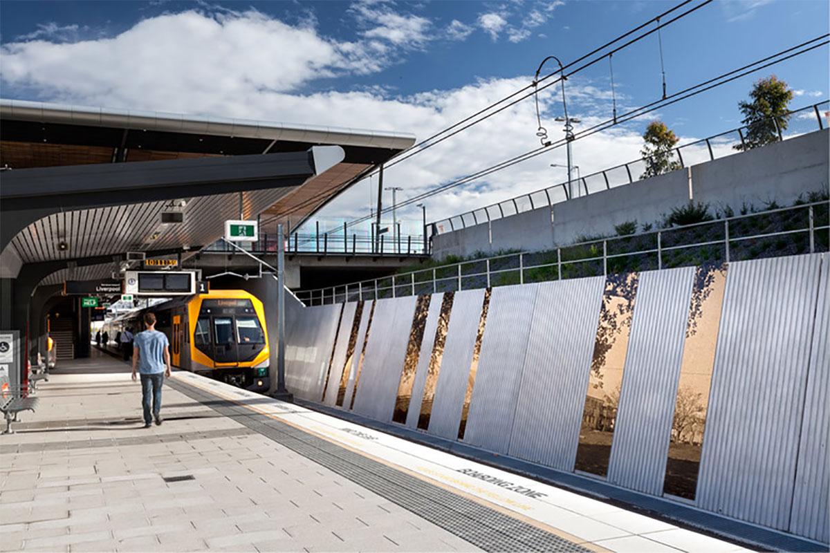 Edmondson Park Station Sydney Australia KI Studio AMBS VitraGroup VitraPanel AI Coatings VItreflon Lumiflon FEVE Resin