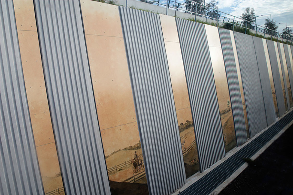 Edmondson Park Station Sydney Australia KI Studio AMBS VitraGroup VitraPanel AI Coatings VItreflon Lumiflon FEVE Resin
