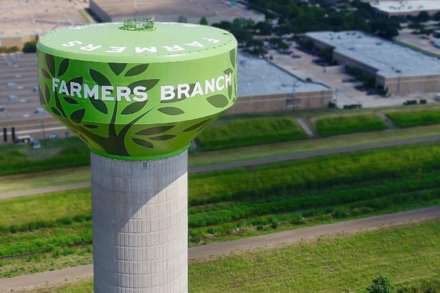 Farmers Branch Texas Water_Tank, Tnemec Company Inc