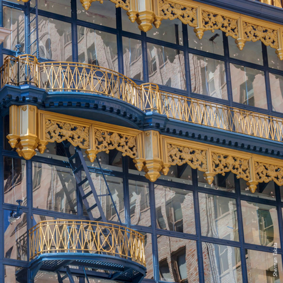 Hallidie Building San Francisco Glass Curtain Wall Facade Tnemec Fluoronar Lumiflon FEVE