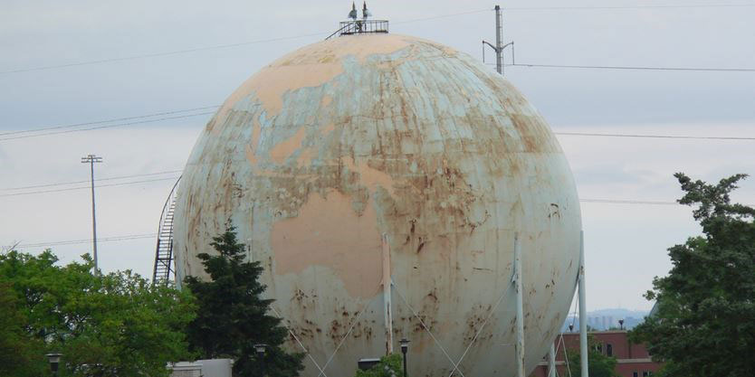Hamilton Methane Sphere, Ontario, Tnemec, Hydroflon
