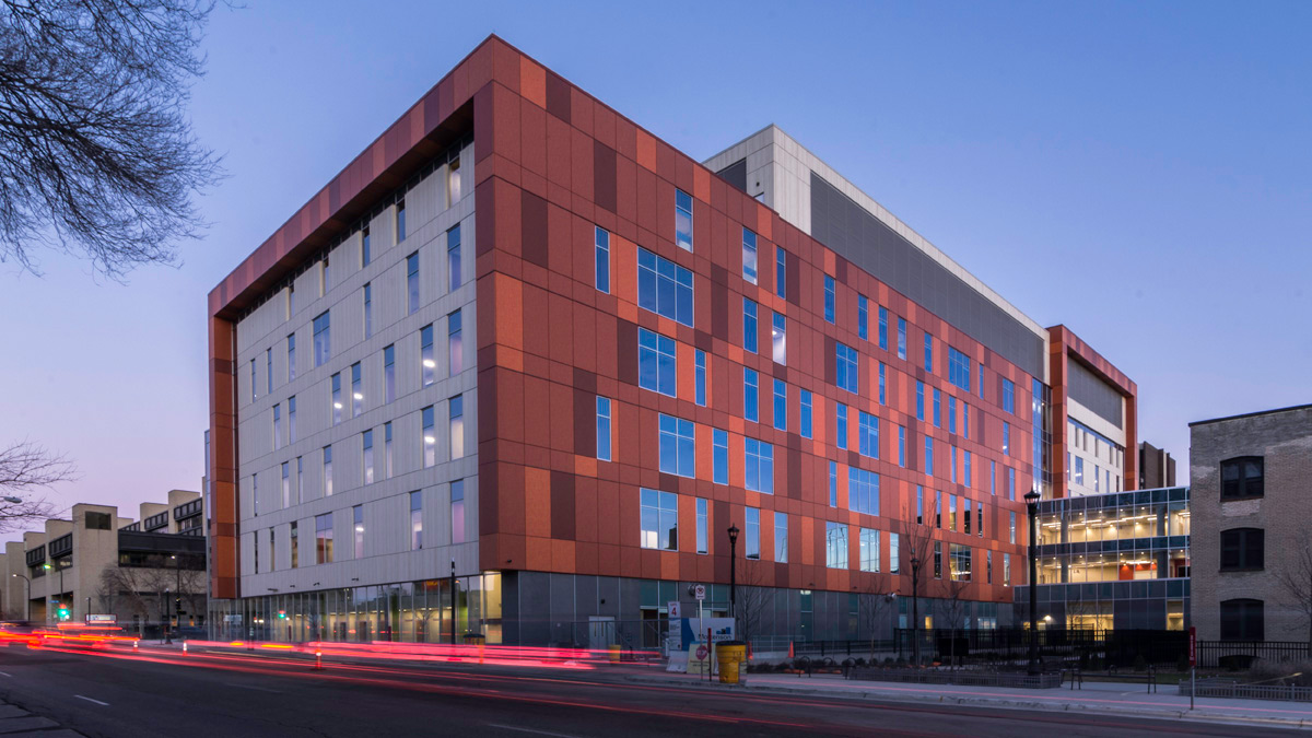 Hennepin County Medical Center Minneapolis BWBR McGrath Pure Freeform Lumiflon FEVE Resin
