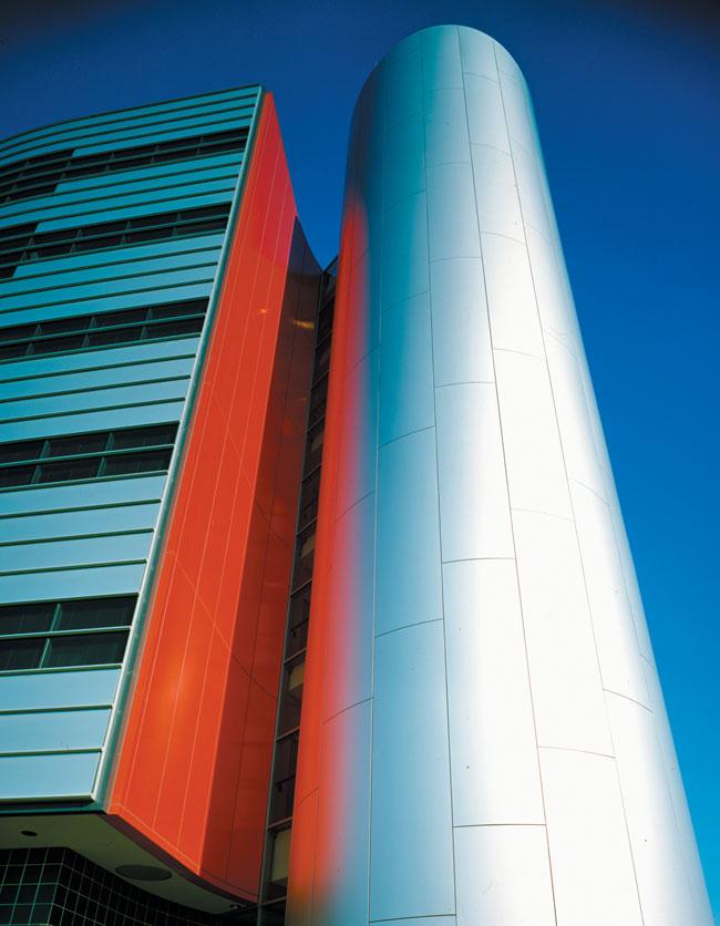 Delphi Automotive Systems Headquarters, Michigan, ALPOLIC, LUMIFLON USA, Photography Mitsubishi Plastics Composites America
