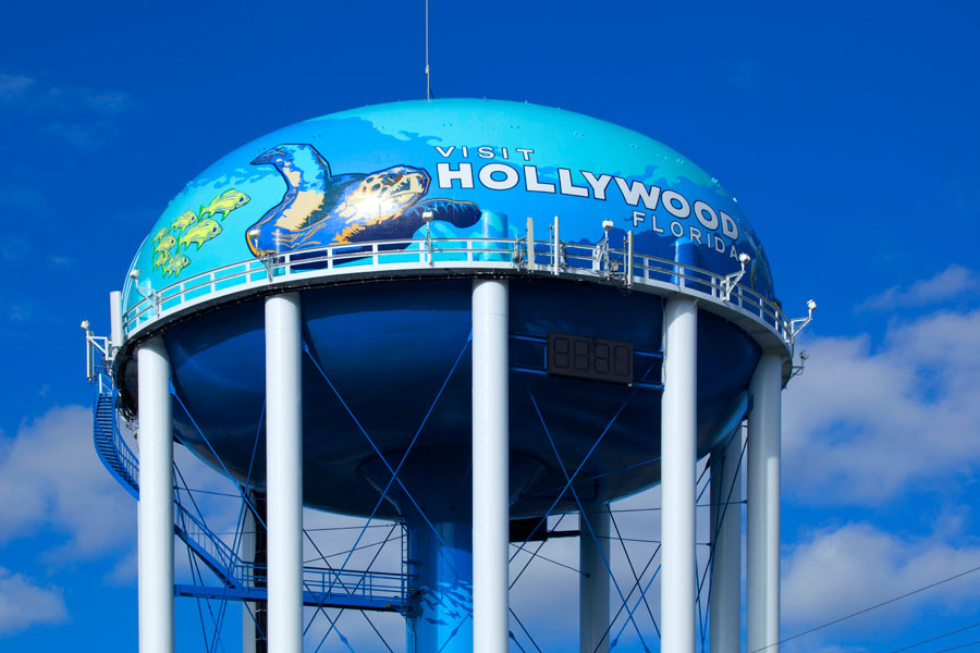 LUMIFLON FEVE Resin, Hollywood FL Water Tank, Tnemec, Photo by Greg Wilson, 2