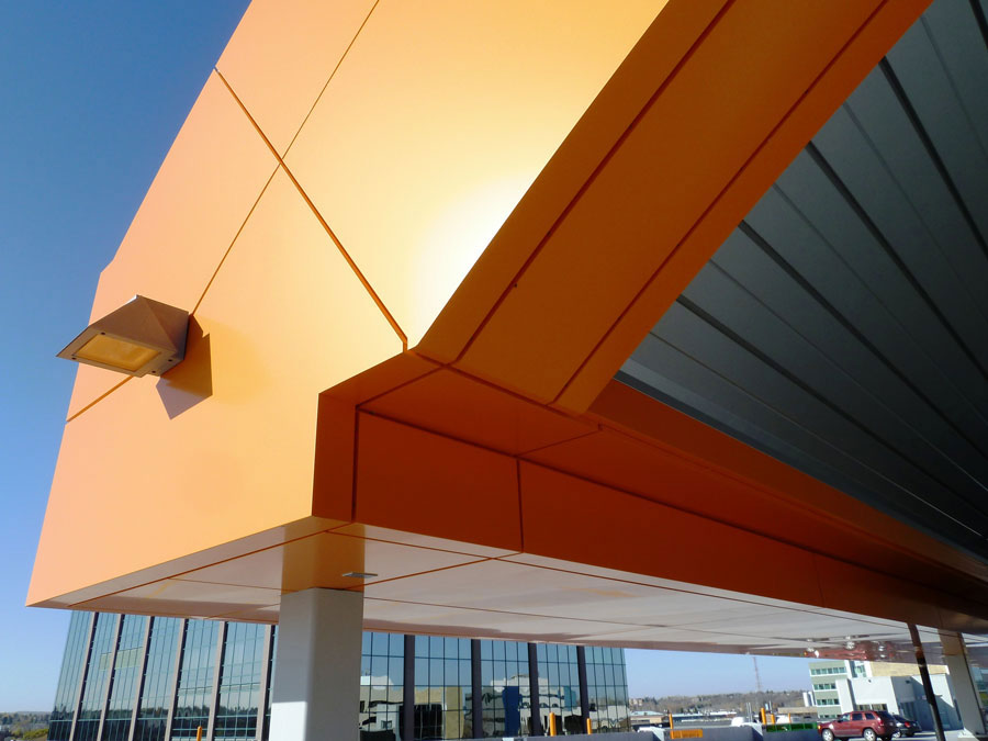 Sorensen Station Parkade, Canada, ALPOLIC, LUMIFLON USA, Photography Mitsubishi Plastics Composites America