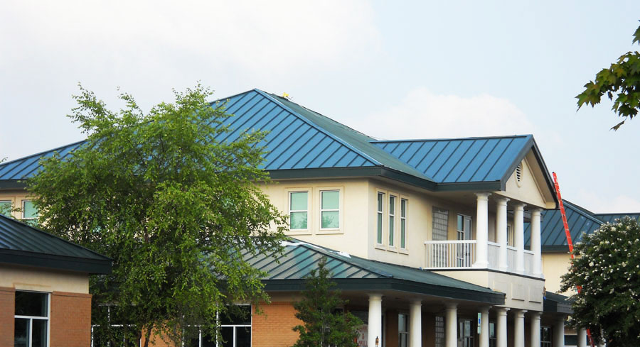 LUMIFLON FEVE Resin, Village Harbor Office, All-Tech Decorating Company, Completed Green Roof Panels