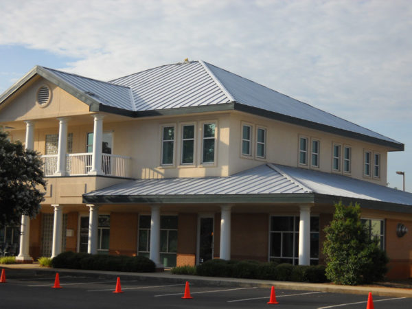 LUMIFLON FEVE Resin, Village Harbor Office, All-Tech Decorating Company, Grey Primed Roof Panels