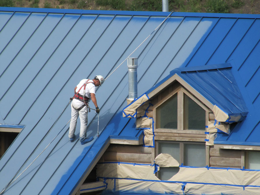 Lumiflon Feve Resin Used To Restore Metal Roof Degradation