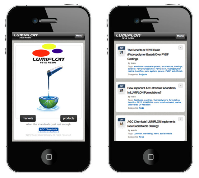 LUMIFLON, Mobile Site Launch 2012
