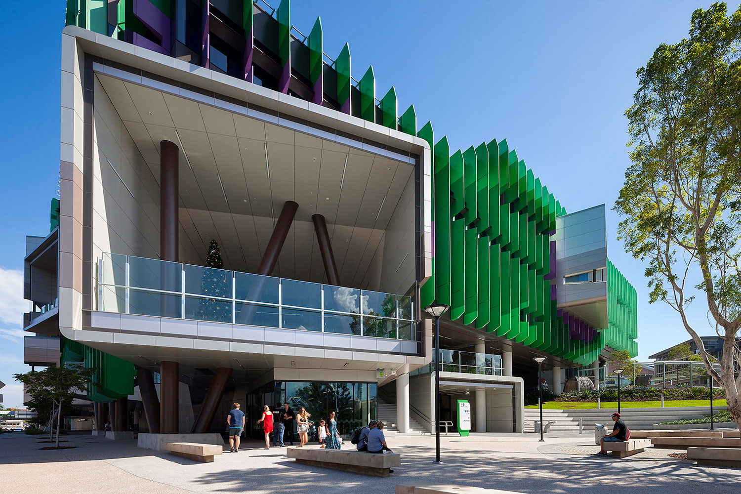 Lady Cilento Childrens Hospital, Queensland, Conrad Gargett Riddel, Lyons Architecture, ALPOLIC Panels, Builder Abi Group, Photography Dianna Snape