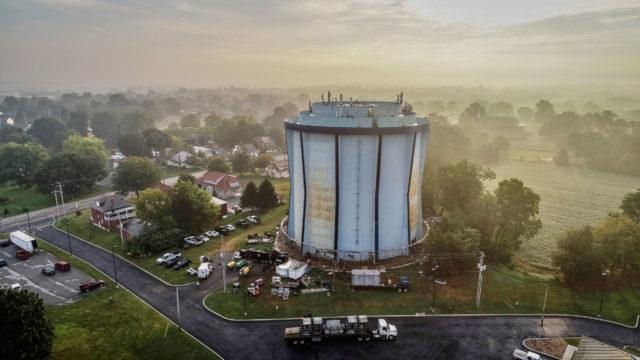 Lancaster, PA, Lafayette Water Tank, Induron Protective Coatings Perma Gloss