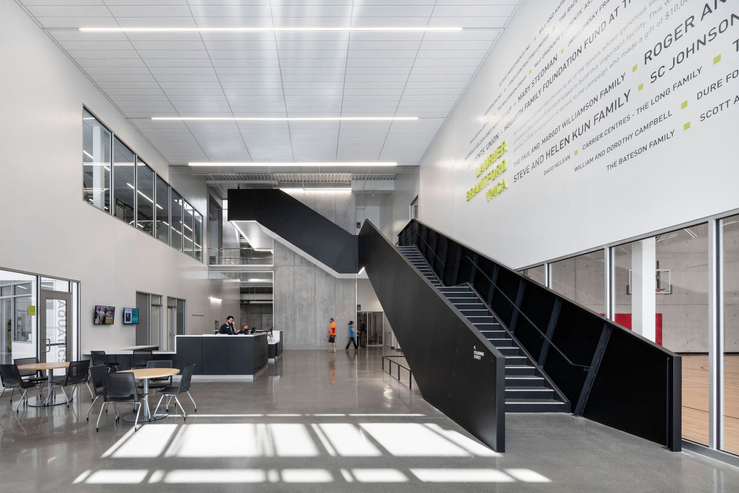 Laurier Brantford YMCA, Wilfrid Laurier University, ON, Canada, CannonDesign, Photography Adrian Williams