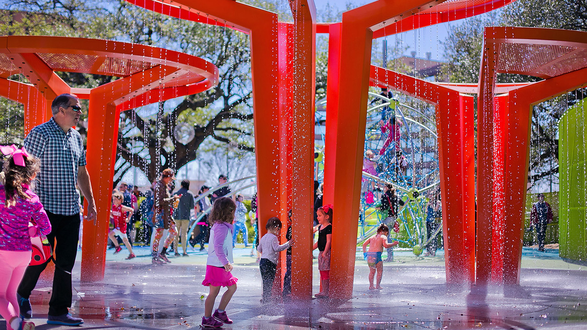 Levy Park Houston Texas Office Of James Burnett OJB Urban Park Landscape Architecture Tnemec Fluoronar Lumiflon FEVE Resin
