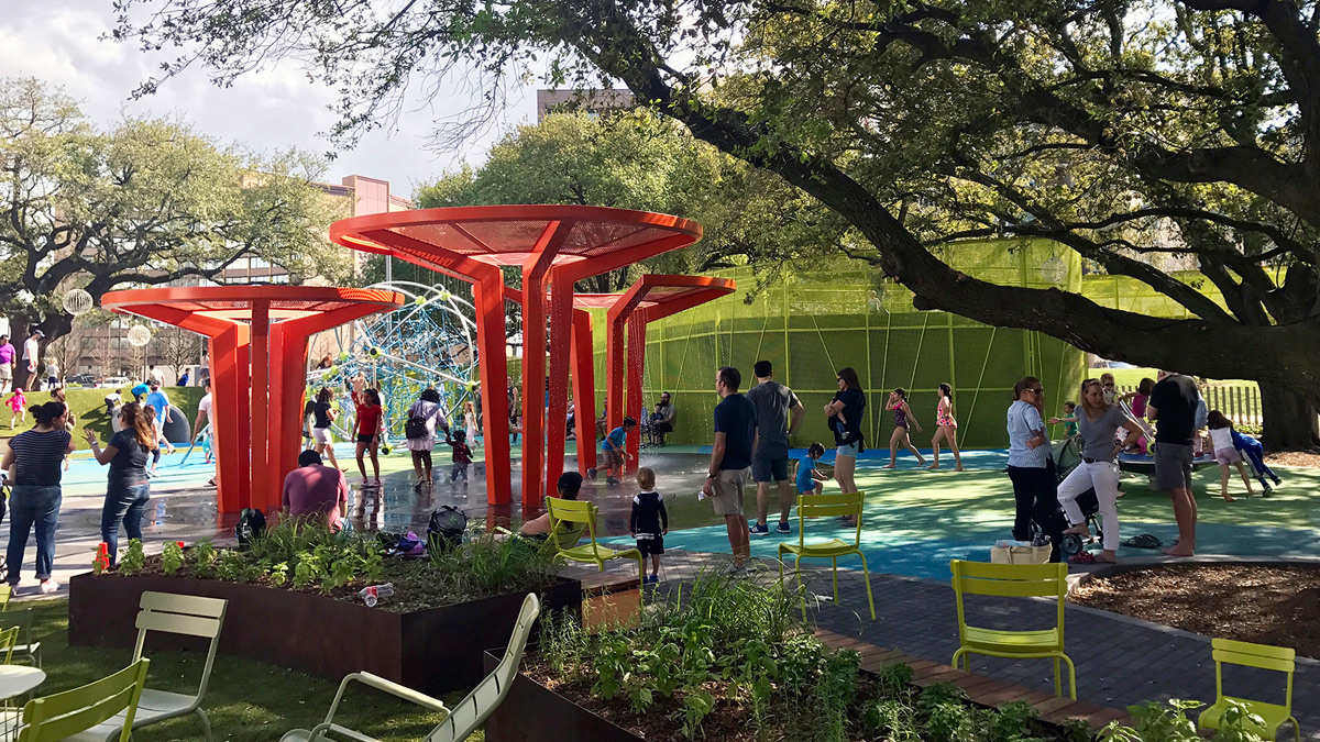 Levy Park Houston Texas Office Of James Burnett OJB Urban Park Landscape Architecture Tnemec Fluoronar Lumiflon FEVE Resin