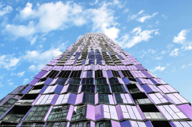 Light House Apartments Melbourne Elenberg Fraser Hengyi Alucobond Plus Spectra Violet Lumiflon FEVE Resin
