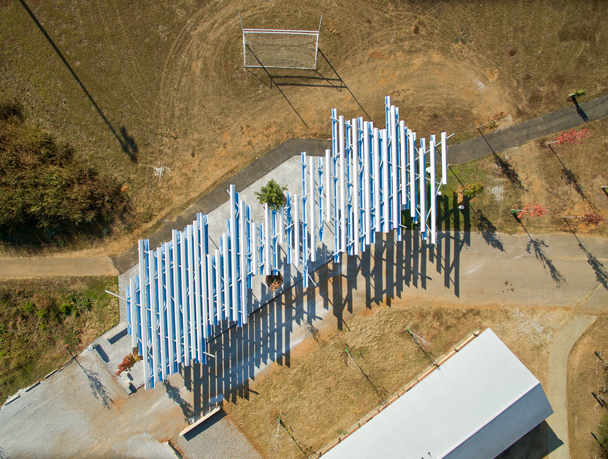Lions Park Greensboro Alabama Auburn University School of Architecture Planning and landscape Architecture Rural Studio ACM Alpolic Valspar Valflon Lumiflon