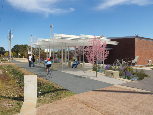 Lions Park Greensboro Alabama Auburn University School of Architecture Planning and landscape Architecture Rural Studio ACM Alpolic Valspar Valflon Lumiflon