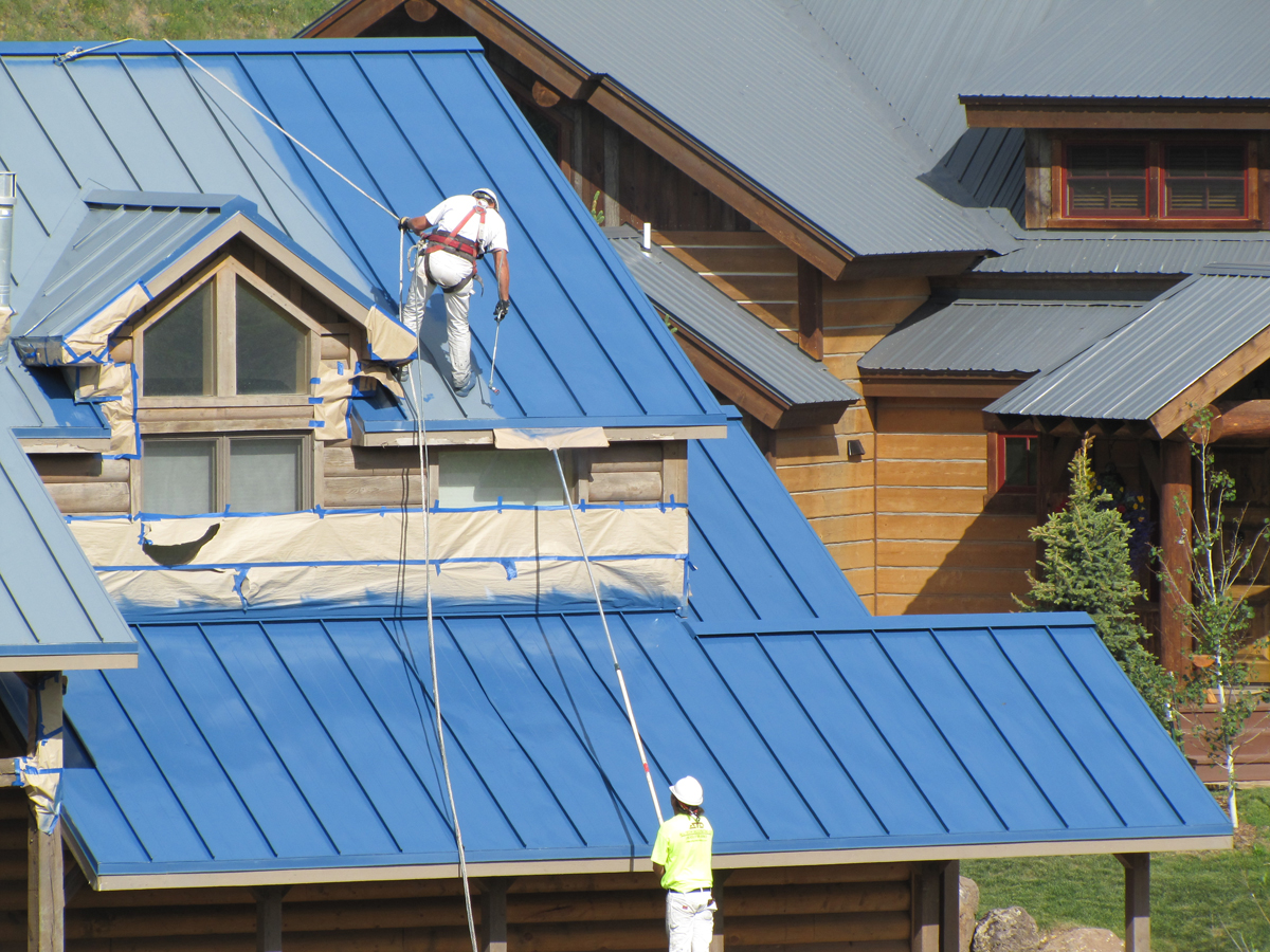 Lumiflon Feve Based Coatings Make Metal Roof Restoration