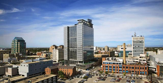 Manitoba Hydro, Smith Carter Architects, KPMB, Winnipeg, Thermal Systems, LEED Platinum, Alucobond, LUMIFLON USA, Gerry Kopelow