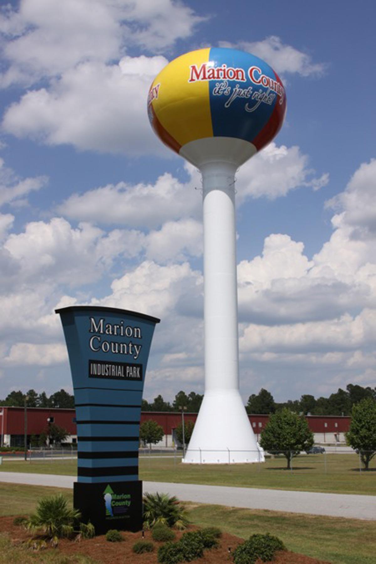 marion county south carolina water tank tnemec hydroflon bp barber and associates