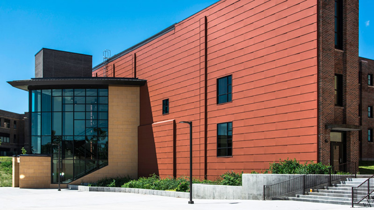 Memorial Hall Bemidji State University Minnesota LHB Architects Pure Freeform Lumiflon FEVE Resin