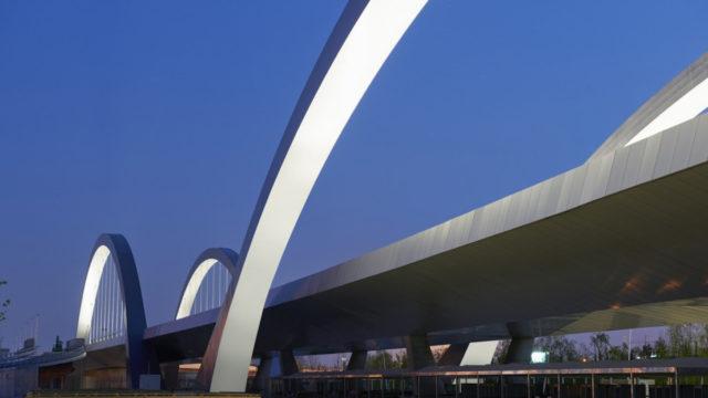 Milan Expo Bridge 2015 Italy Citerrio Milano Patricia Viel and Partners Lumiflon FEVE Resin