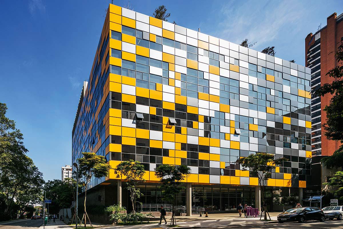 Modulo Reboucas Sao Paulo Brazil Pian Arquitetos ALPOLIC ACM Lumiflon FEVE Resin