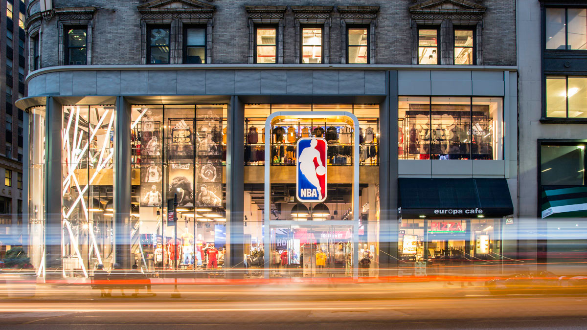 NBA Flagship, Gensler, Kurt Salmon, TAD Associates, Pure Freeform, Lumiflon FEVE Resin, Joe Brennah