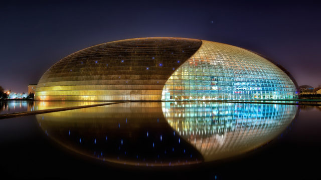 National Center For the Performing Arts Of China Beijine China Paul Andreu ALPOLIC TCM LUMIFLON FEVE Resin
