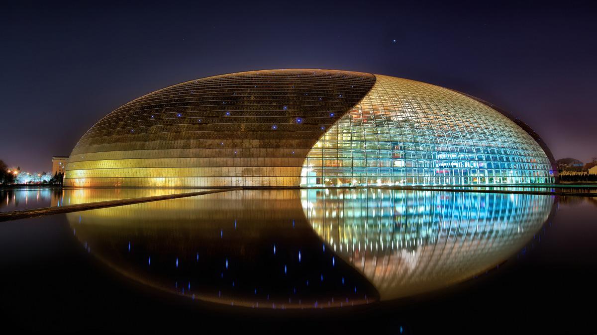 National Center For the Performing Arts Of China Beijine China Paul Andreu ALPOLIC TCM LUMIFLON FEVE Resin