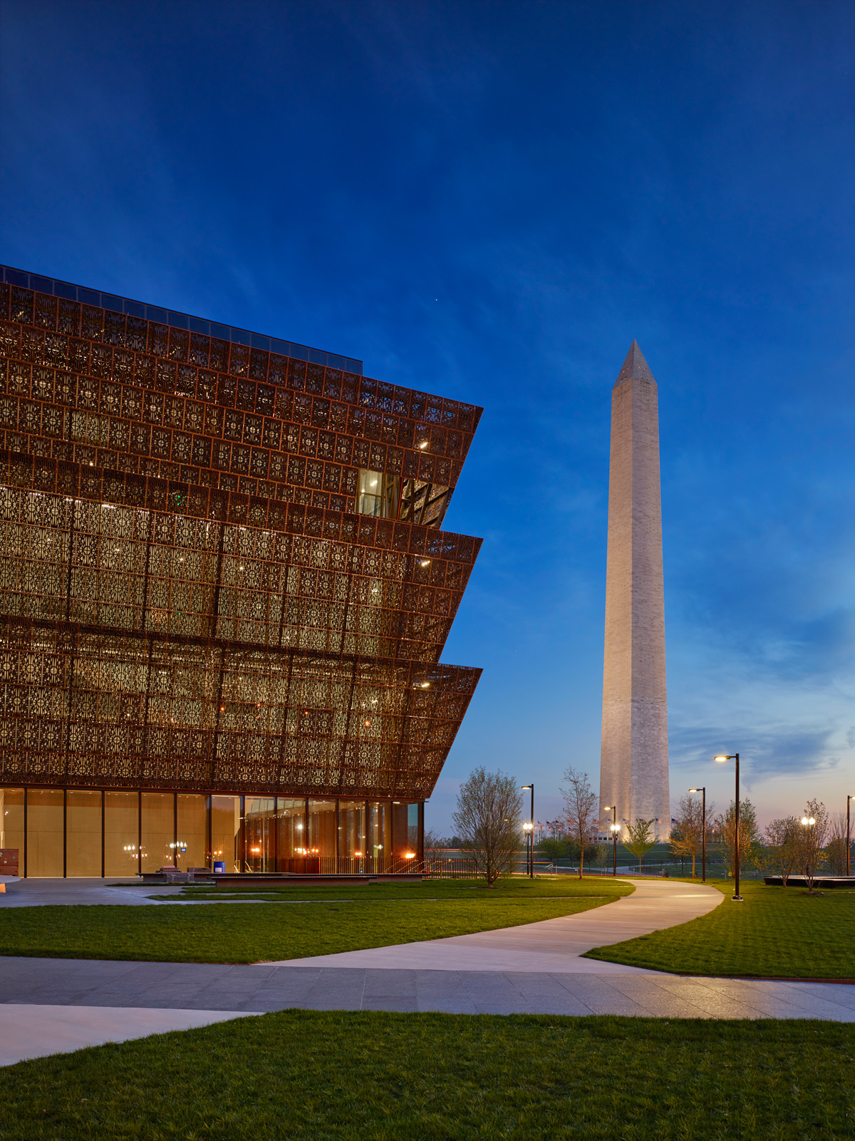 National Museum Of African American History And Culture Smithsonian Washington DC David Adijaye Architect Freelon Adjaye Bond SmithGroup Pure Freeform Lumiflon FEVE Resin Photography Brad Feinknopf Alan Karchmer