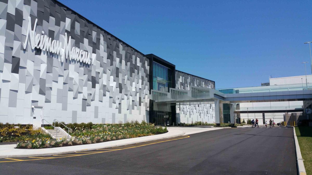 Neiman Marcus, Garden City, Retail Store, Elkus Manfredi Architects, Aurora Contractors, ALPOLIC, Photography WW Glass
