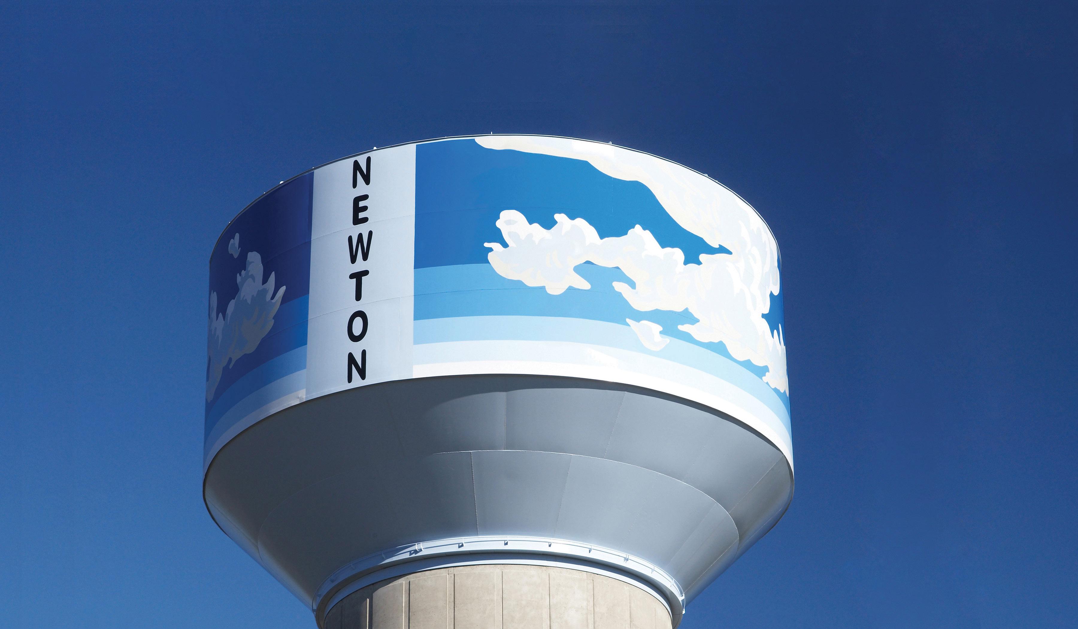 Newton, Kansas, Water Tank, Tnemec Company, Hydroflon Series 700, Lumiflon FEVE